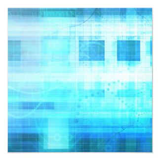 Science Futuristic Internet Computer Technology 13 Cm X 13 Cm Square Invitation Card