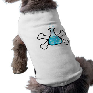 science geek beaker and crossbones design sleeveless dog shirt
