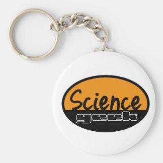 Science Geek Basic Round Button Key Ring