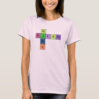 SCIENCE GIRL! Periodic Table Scramble T-Shirt