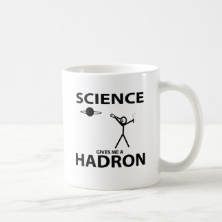 Science Gives Me a Hadron Stick Figure Nerd Gear Basic White Mug