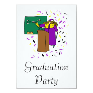 Science Graduate 13 Cm X 18 Cm Invitation Card