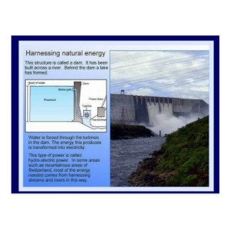 Science, Harnessing natural energy Postcard