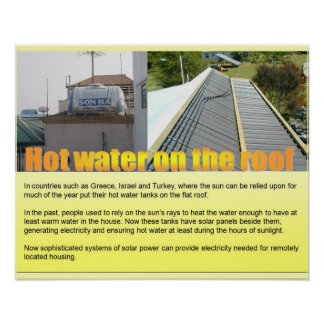 Science, Hot water on the roof Print