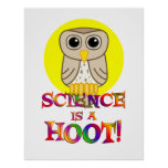 Science is a Hoot Posters