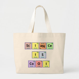 Science is cool large tote bag