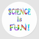 Science is Fun Round Stickers