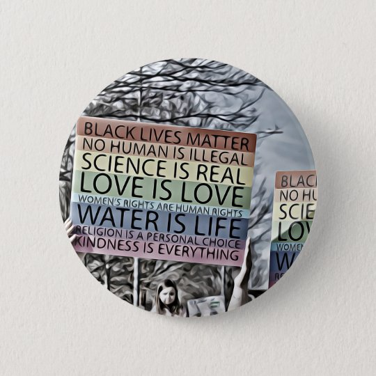 Science is Real 6 Cm Round Badge