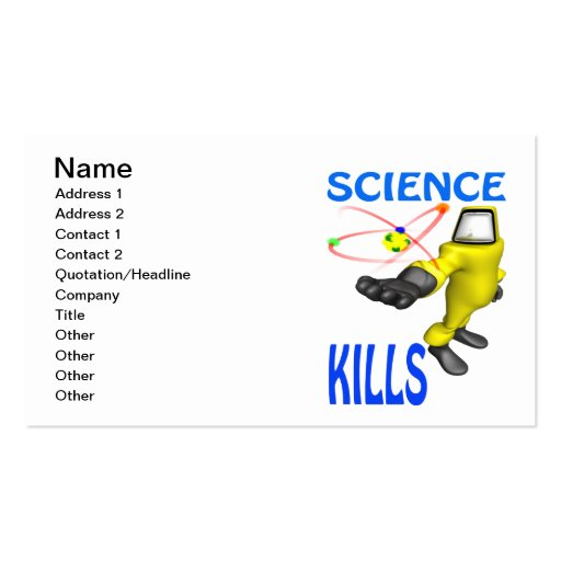 Science Kills Business Card Template