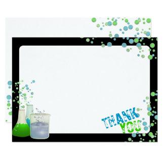 Science Lab Thank You 11 Cm X 16 Cm Invitation Card
