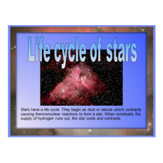 Science,  Life cycle of stars Postcard