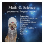 Science Math Cute Space Lab Stars Poster