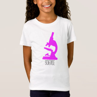 Science Microscope Girls T Shirt