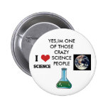 science nerd 6 cm round badge
