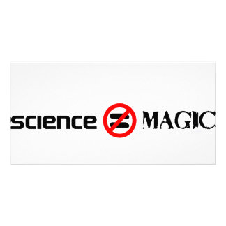 science not magic personalized photo card