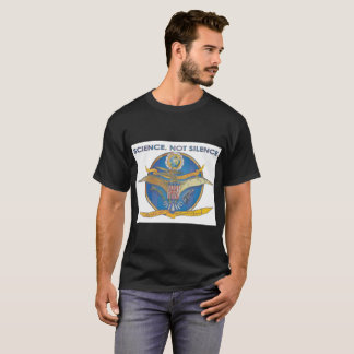 Science. Not Silence (smaller logo) t-shirt