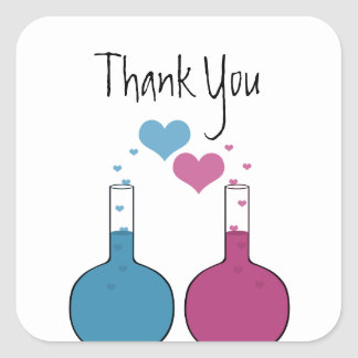 Science of Love Thank You Stickers