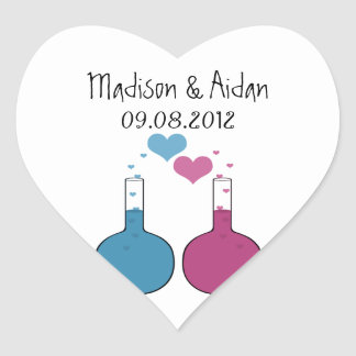 Science of Love Wedding Stickers