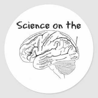Science on the Brain Classic Round Sticker