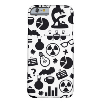 Science Pattern black on white Barely There iPhone 6 Case
