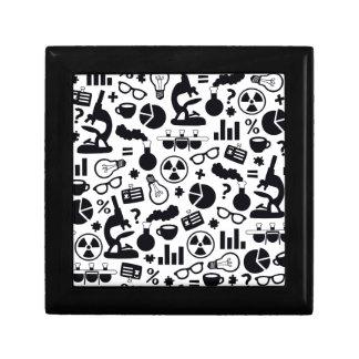 Science Pattern black on white Gift Box
