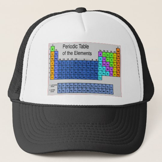 Science Periodic Table of Elements Gifts Cap