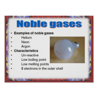 Science, Reactivity,  Noble gases Poster