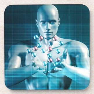Science Research as a Molecule Concept Beverage Coaster