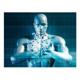Science Research as a Molecule Concept Postcard