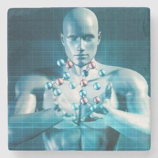 Science Research as a Molecule Concept Stone Coaster