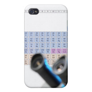 Science research, conceptual image. Periodic iPhone 4/4S Covers