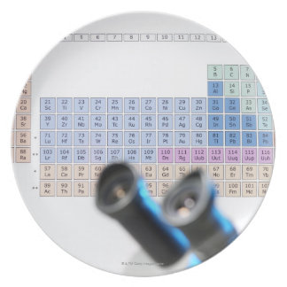 Science research, conceptual image. Periodic Plate