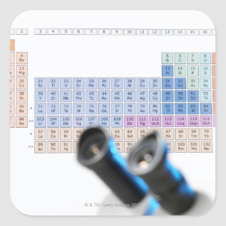 Science research, conceptual image. Periodic Square Sticker