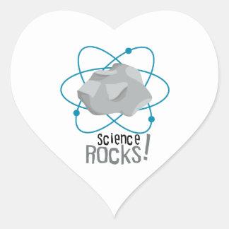 Science Rocks Heart Stickers