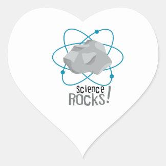 Science Rocks! Heart Sticker