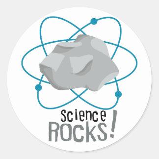 Science Rocks Round Sticker