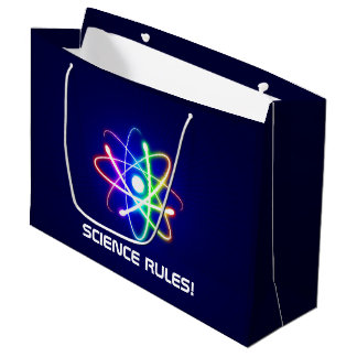 SCIENCE RULES! Atom Large Gift Bag