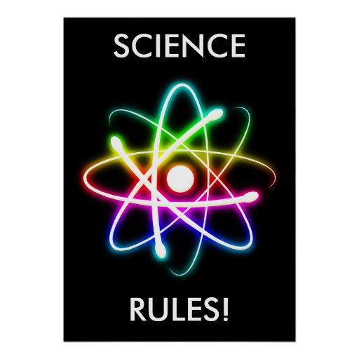 science rules poster unique posters religion superior pages because sciences energy physics atom glowing ornament colorful ornaments atomic gifts zazzle