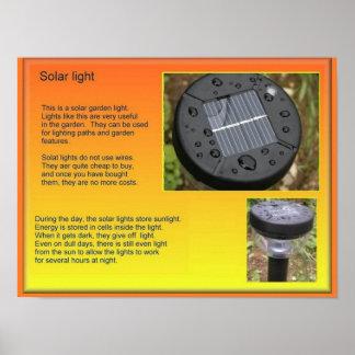 Science, Solar powered light Print