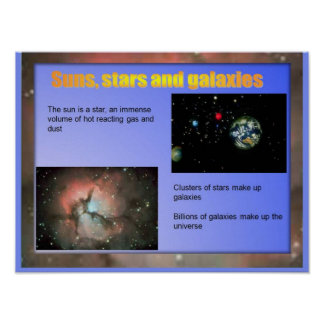 Science Suns stars and galaxies Print