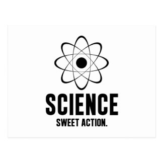Science. Sweet Action. Postcard