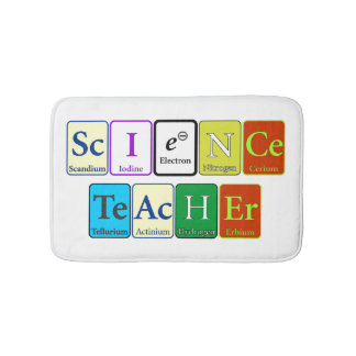 Science Teacher Bath Mat