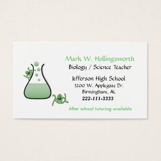 Science Teacher business cards