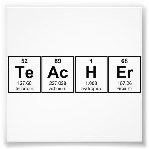 Science Teacher Chemical Elements Photo Art