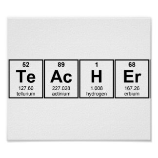 Science Teacher Chemical Elements Posters
