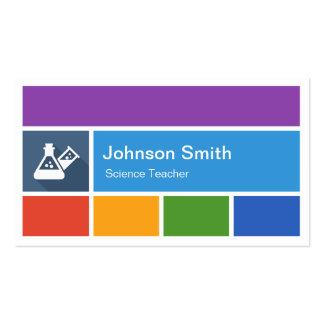 Science Teacher - Creative Modern Metro Style Business Card Templates