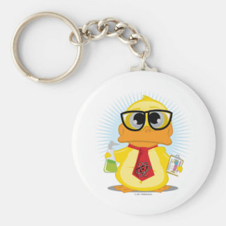 Science Teacher Duck Key Ring