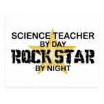 Science Teacher Rock Star by Night Post Cards