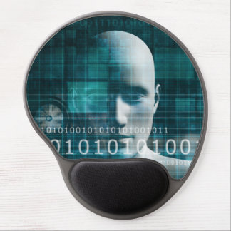 Science Technology Background as a Digital Binary Gel Mouse Mat