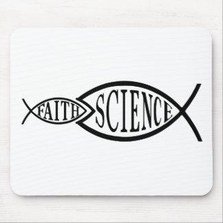 Science Trumps Faith Fish Mouse Mat